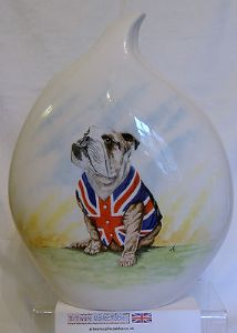 Artware Collectables Tony Cartlidge Tear Drop Vase -The British Bulldog - SOLD